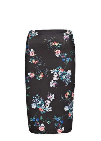1137978c0366dd Neoprene-effect floral skirt - Women | Fashion: Dresses & Skirts ...