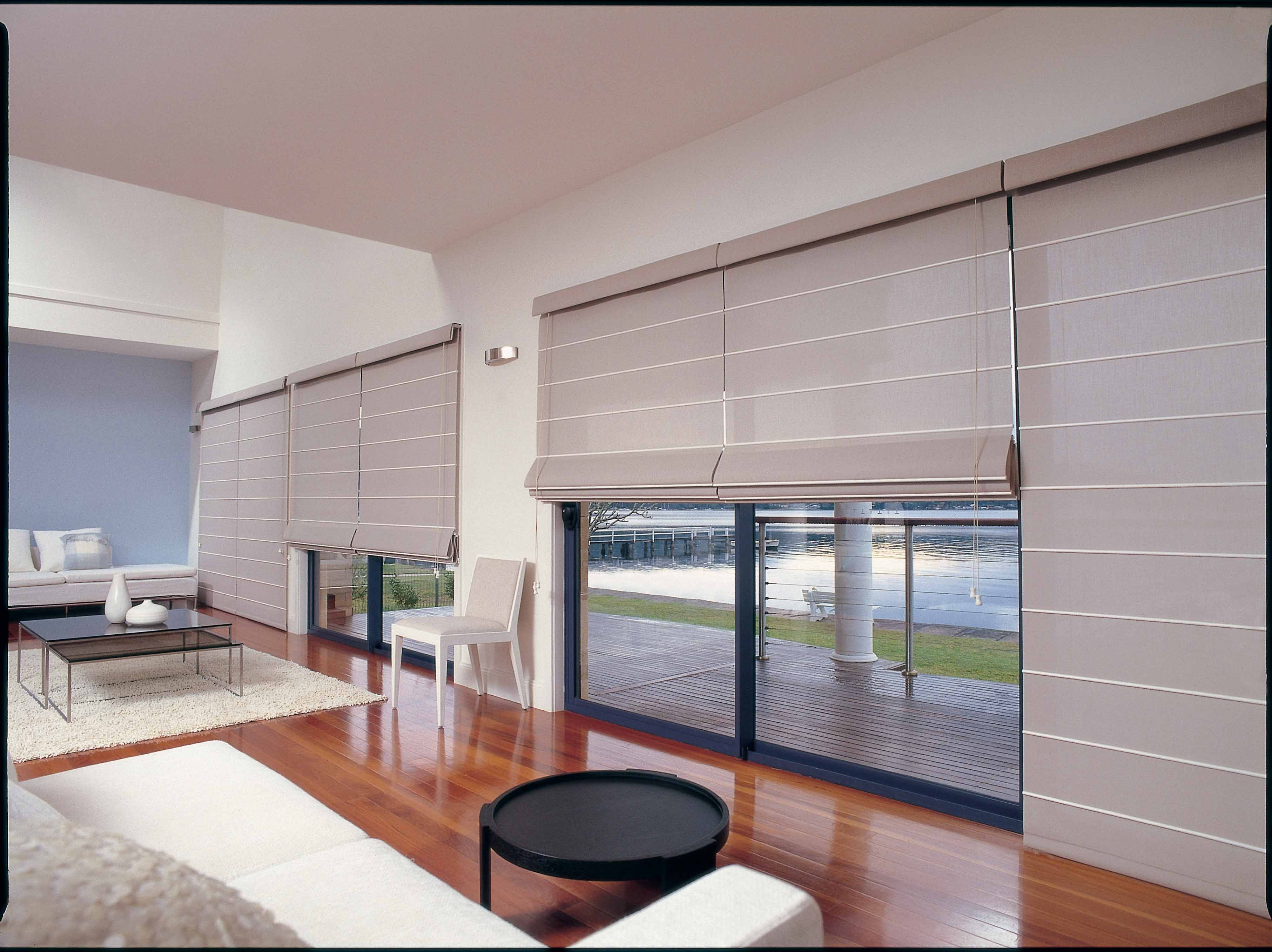 Roman shades roman blinds with a contemporary look and feel