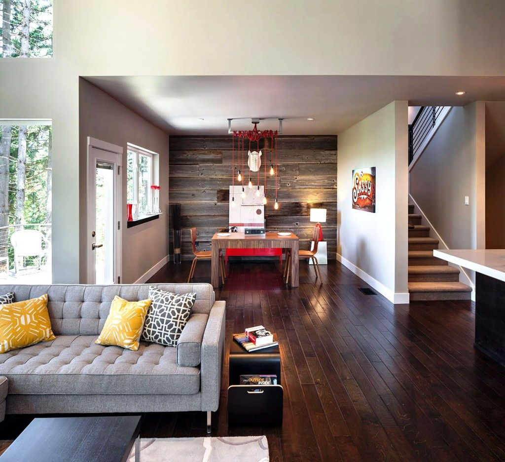 . Large Cozy Living Room Crenshaw photos Small  Minimalist And Modern