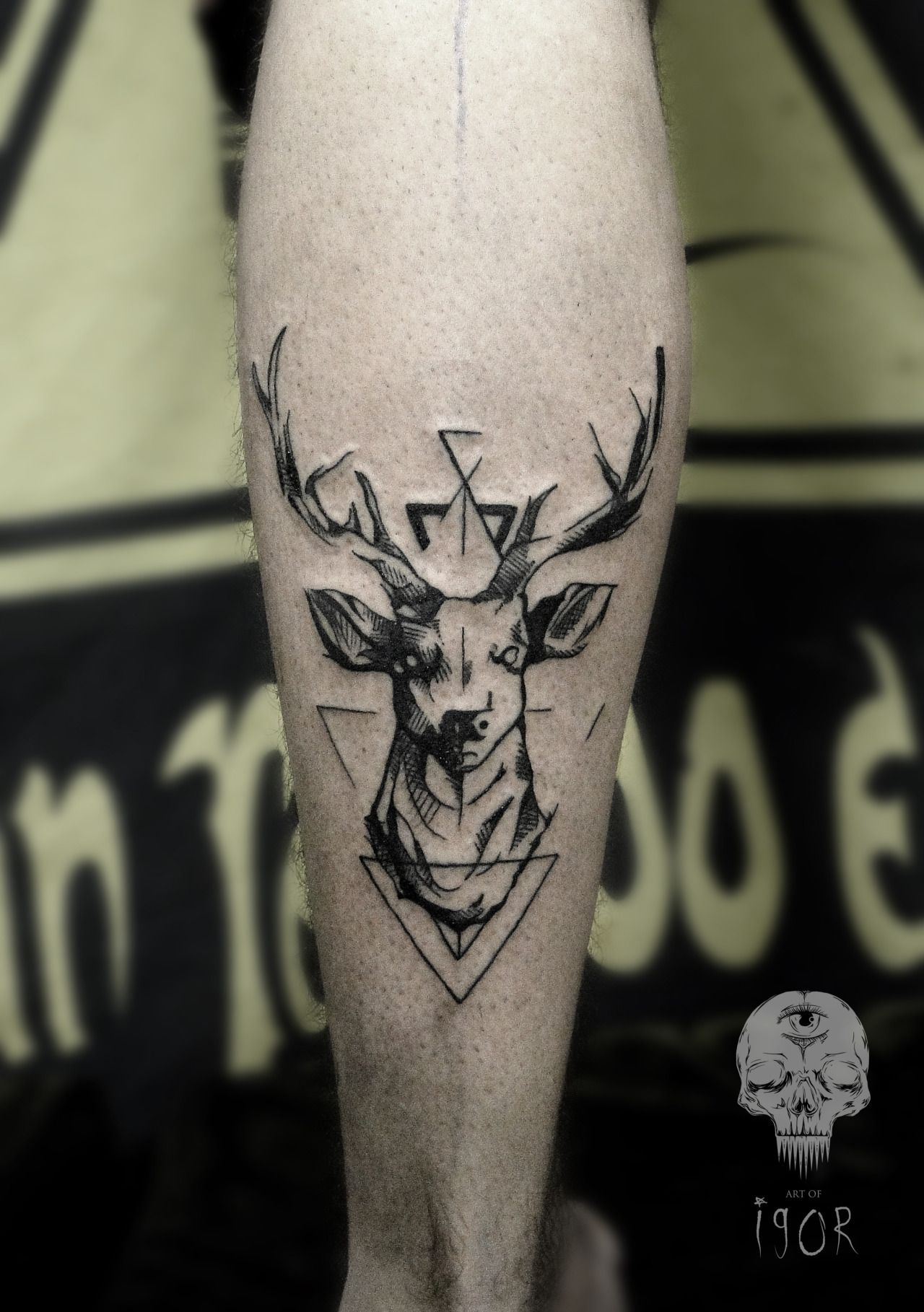 Balanced Deer Leg Tattoo Cool Tattoos Pinterest Electronic Circuit Board Full Sleeve Blackwork Male