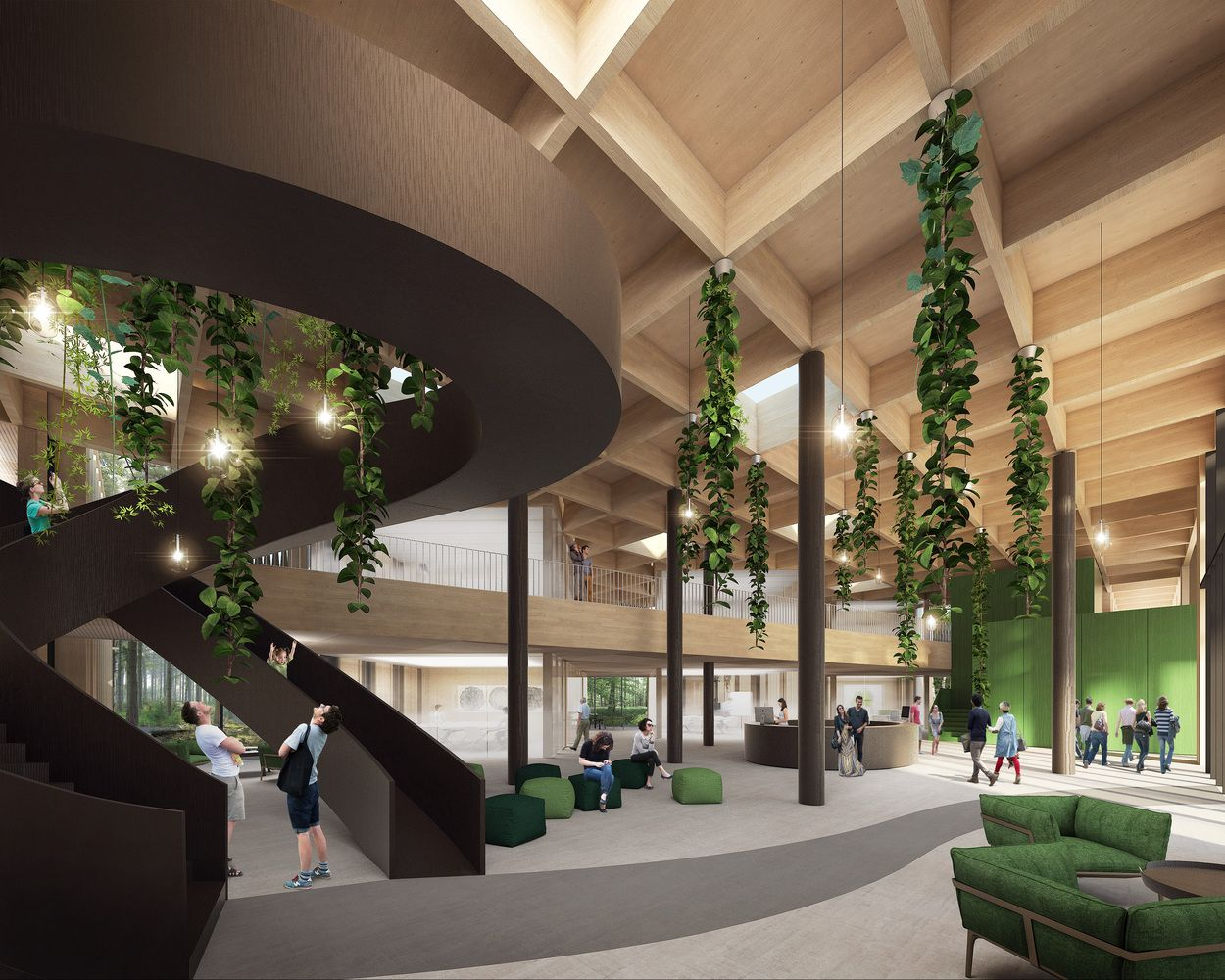Gallery of Landscape and Building Merge in New Czech Forestry ...