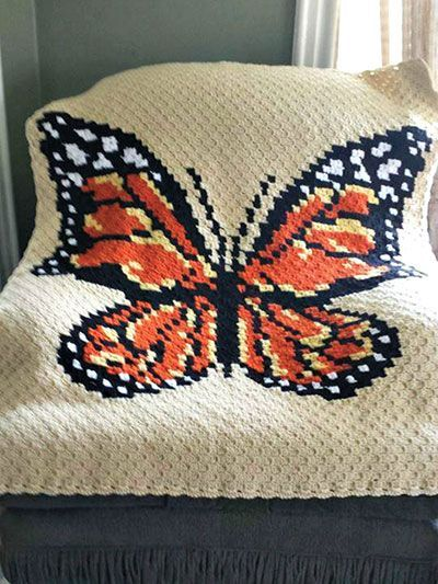 Corner-to-Corner Butterfly Afghan crochet pattern from Annie\'s Craft ...