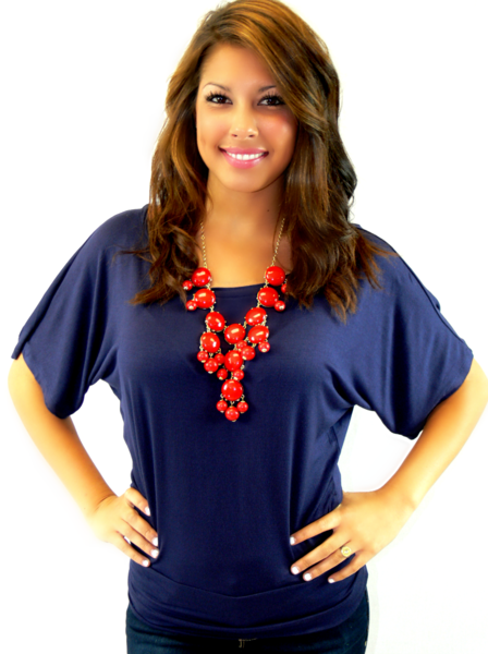 SHORT SLEEVE COMFY FIT IN NAVY