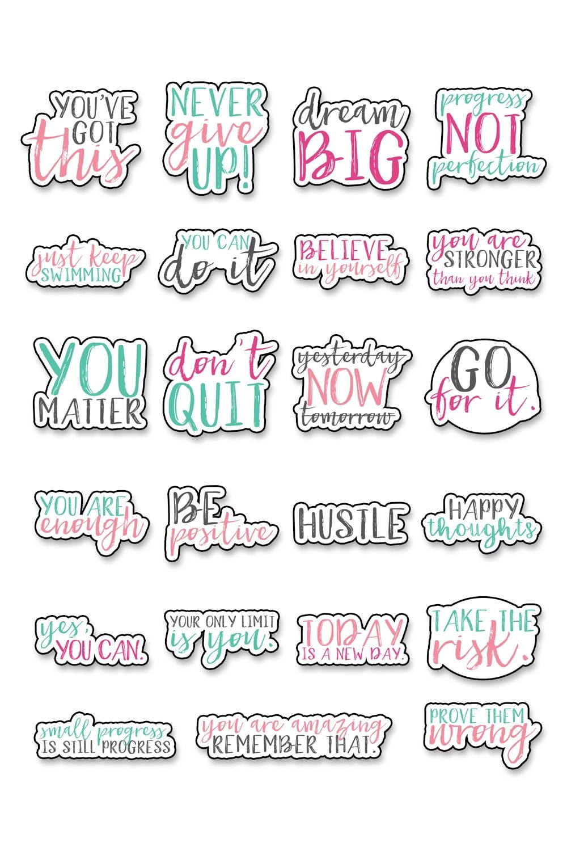Motivational Stickers - Free Motivational Planner Stickers ...