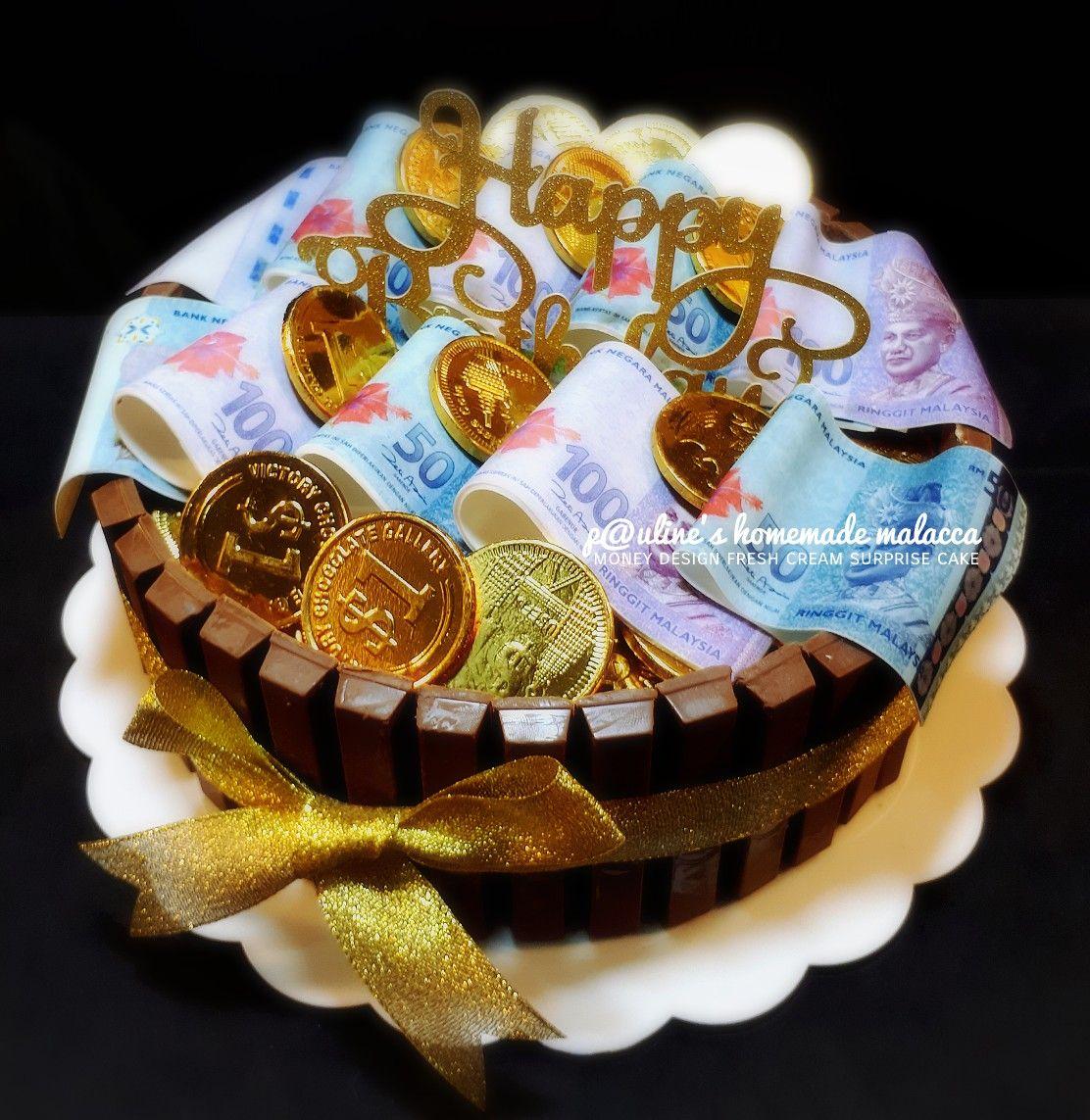 Surprise Money Cake Paulineshomemademalacca