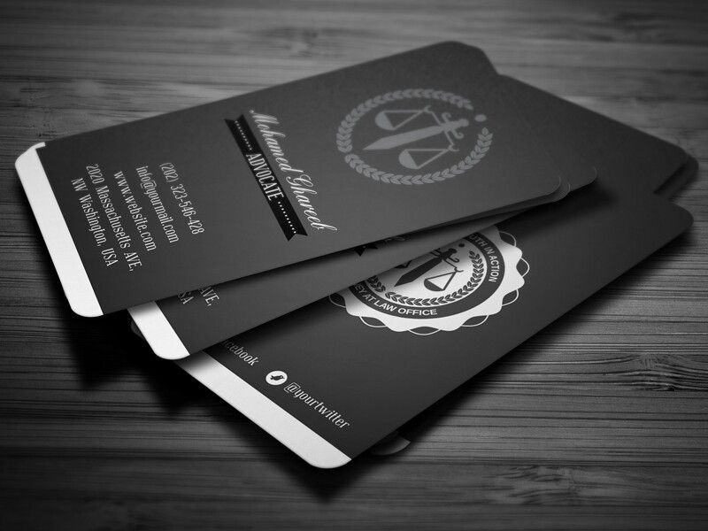 Creative Lawyer Business Card - by Mohamed | #businesscard #design ...