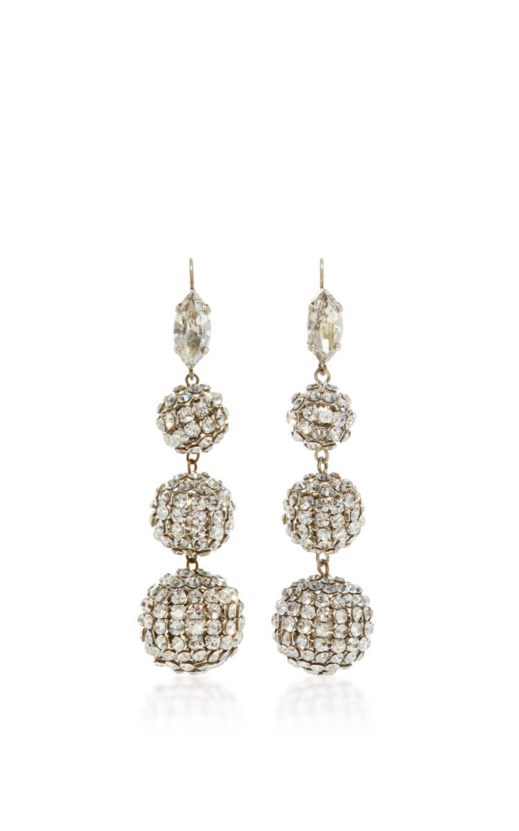 Swarovski Crystal Ball Drop Earrings By Isabel Marant Now Available On Moda Operandi