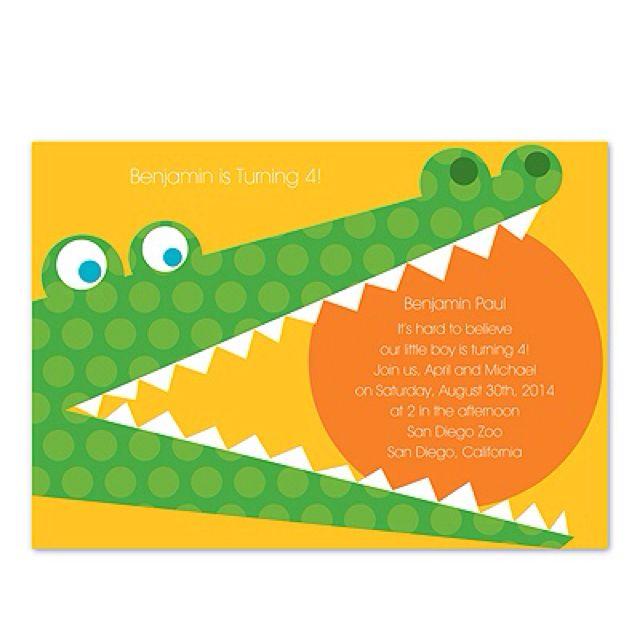 Alligator Invite D S 3rd Birthday Birthday Invitations Birthday