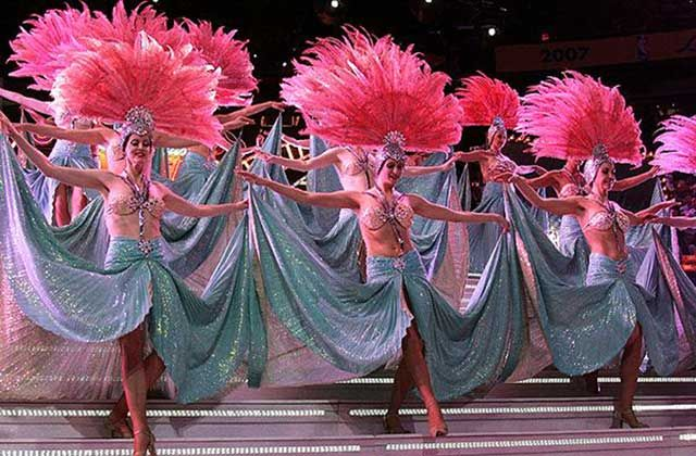 Las Vegas showgirls.
