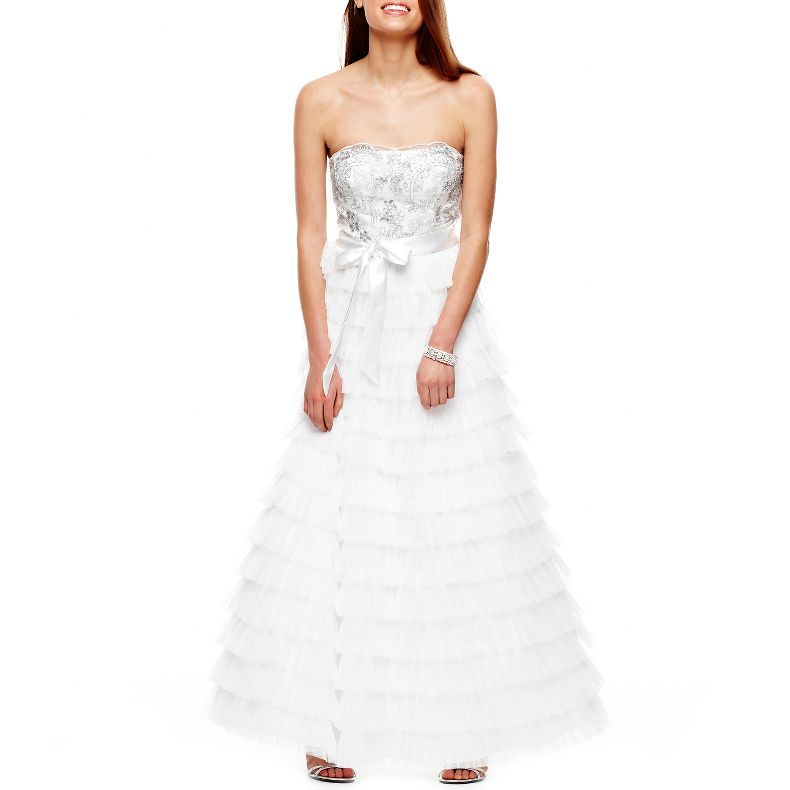 Jcpenney Strapless Tiered Dress Jcpenney 59 99 Dresses