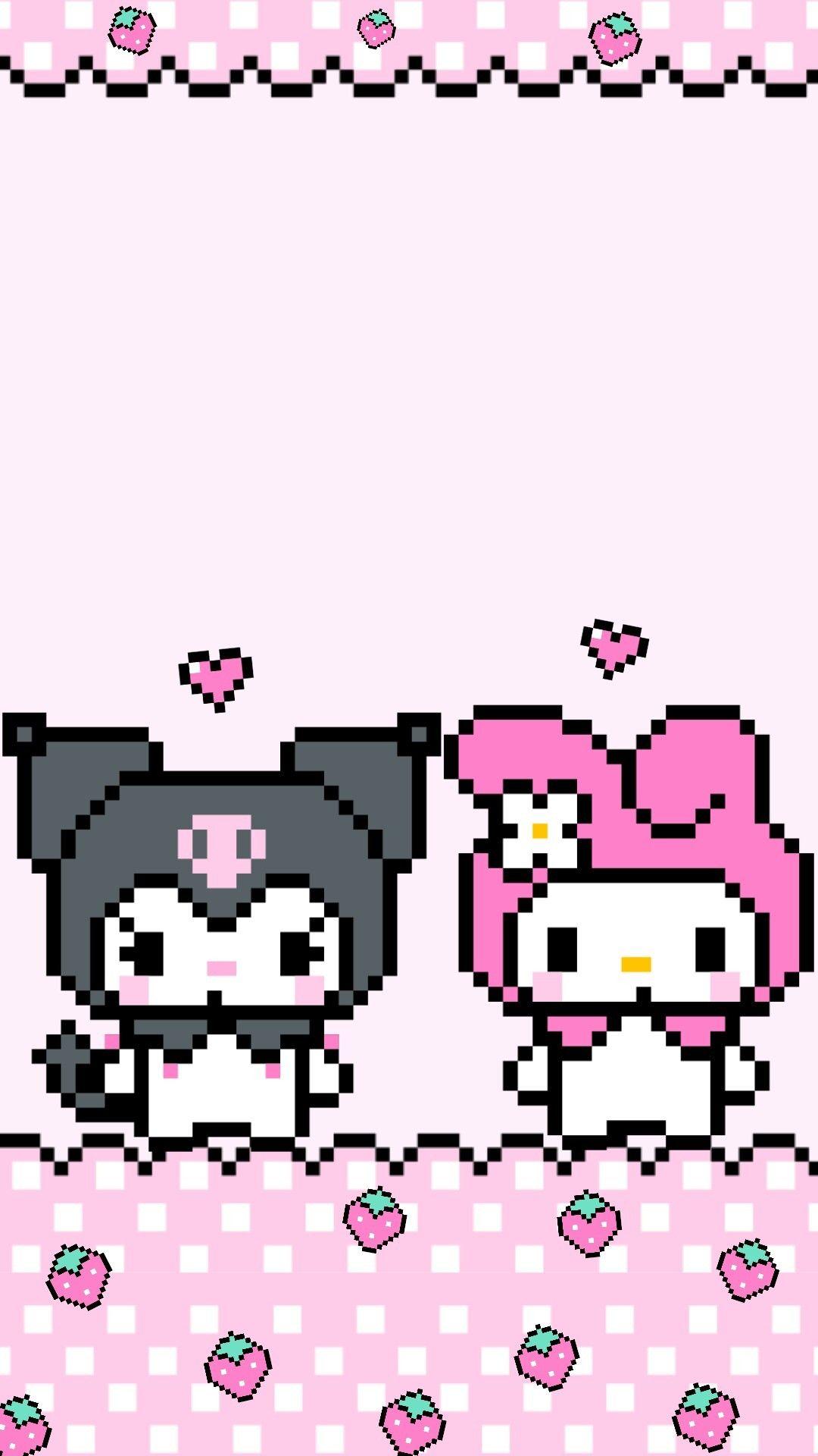 🌸sesshoumaru🌸 — Kuromi and My melody 8bit