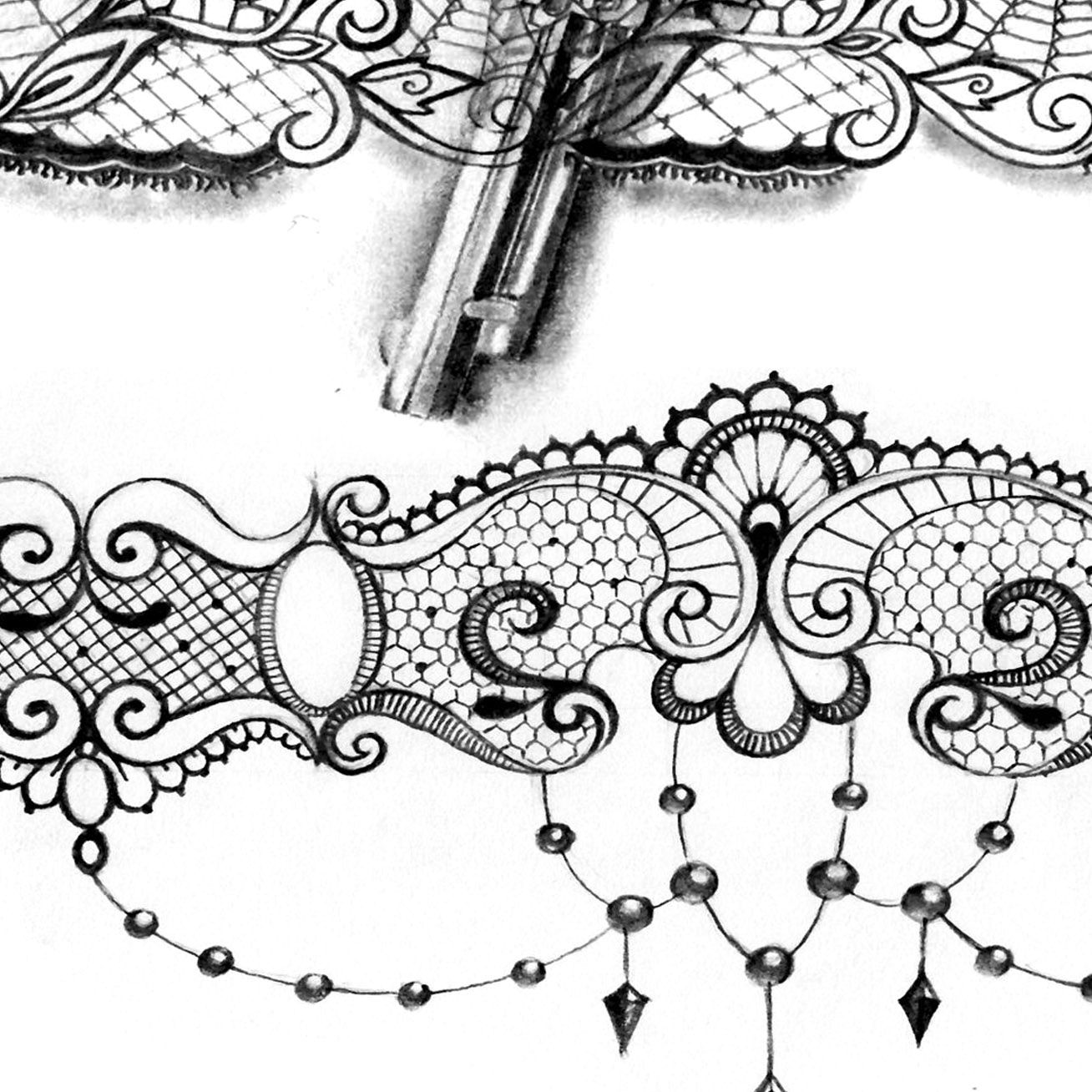 Garter Tattoo Design Idea Lace Tattoo Design Garter Tattoo Lace Tattoo