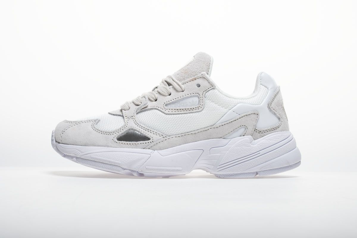 new arrivals be15e 8caba Adidas Falcon W BB9174 YUNG-2 White Grey Shoes1