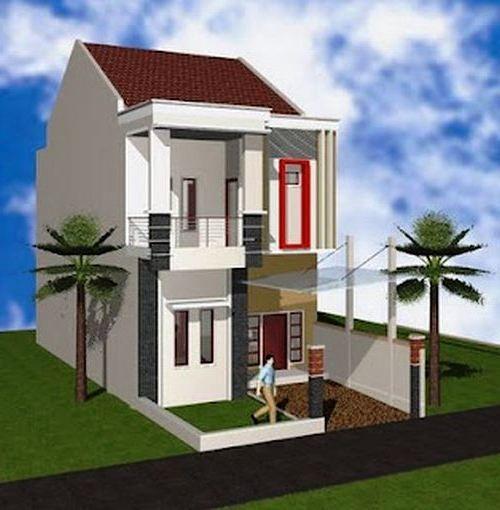 Desain Rumah Minimalis 2 Lantai Type 36 Tampak Depan Rumah Desain Rumah Minimalis