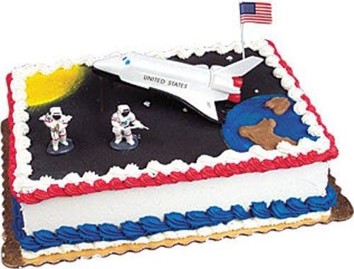 Sensational Space Shuttle W Astronauts Cake Kit Topper Usa Birthday Party Personalised Birthday Cards Vishlily Jamesorg