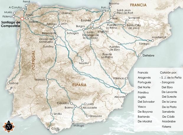 Elige Tu Ruta Camino De Santiago Santiago De Compostela Camino De Santiago España