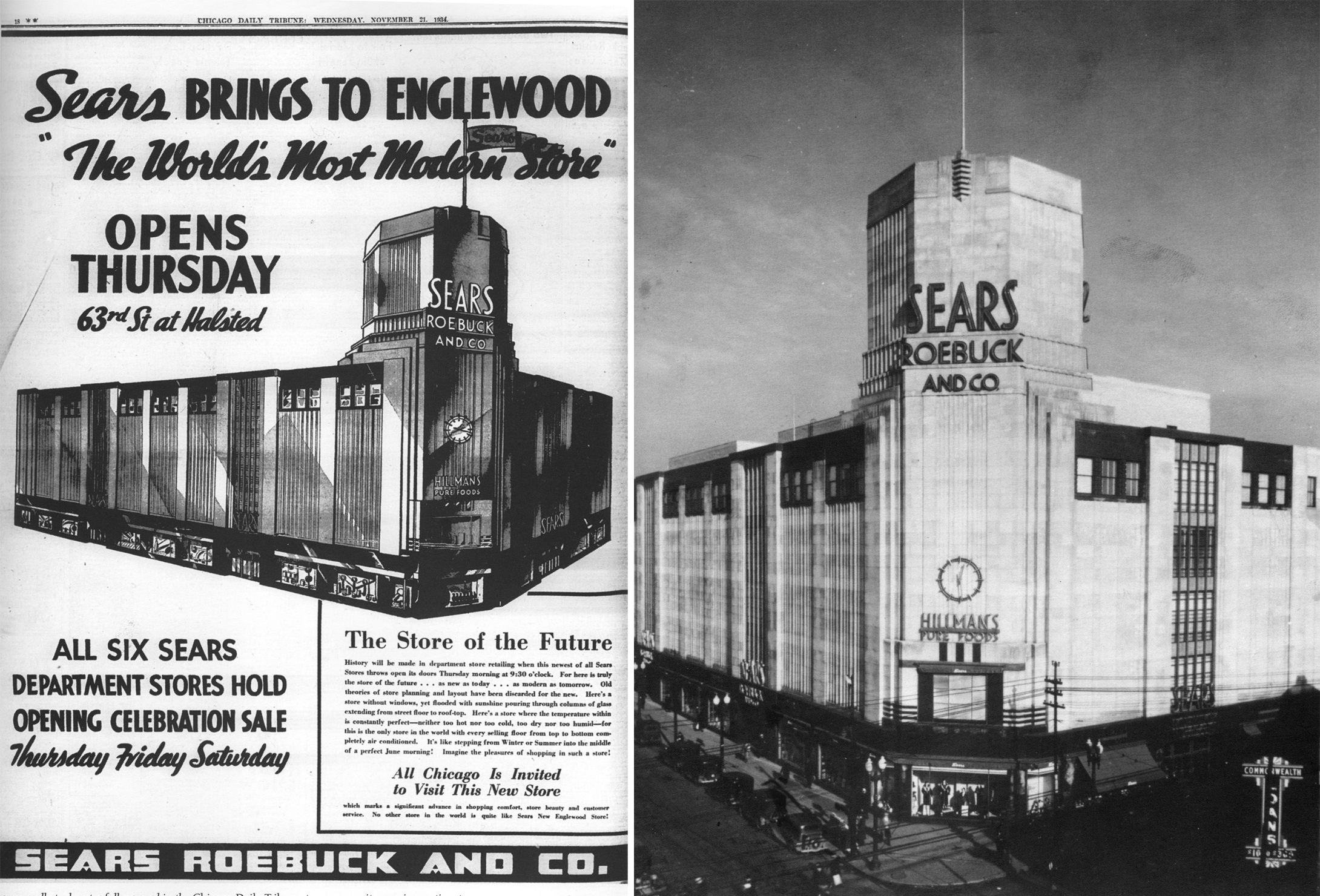 Description of Sears Inglewood Store that had no windows.