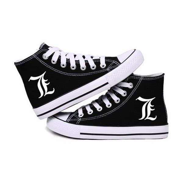 "Death note ""L"" logo cosplay sneakers plimsoll unisex ..."