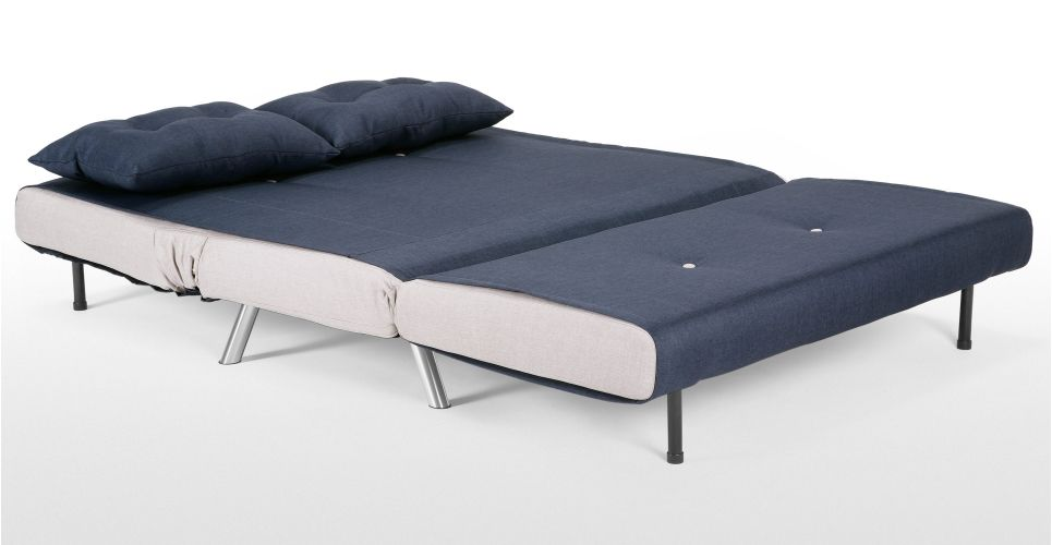 Marvelous Haru Small Sofa Bed In Quartz Blue Small Sofa Small Couch Bralicious Painted Fabric Chair Ideas Braliciousco
