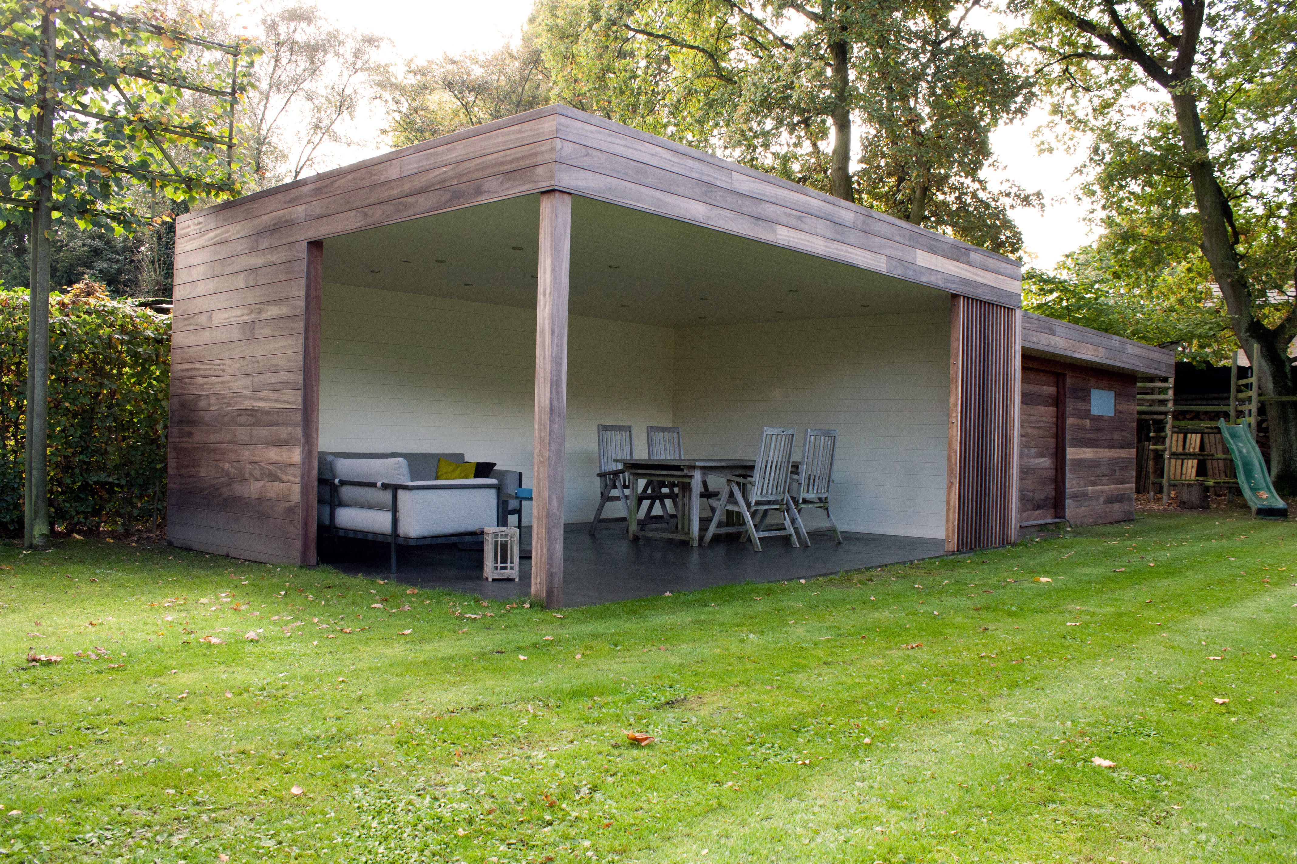 Moderne terrasoverkapping arquitectura pinterest yards and searching - Hout pergola dekking ...
