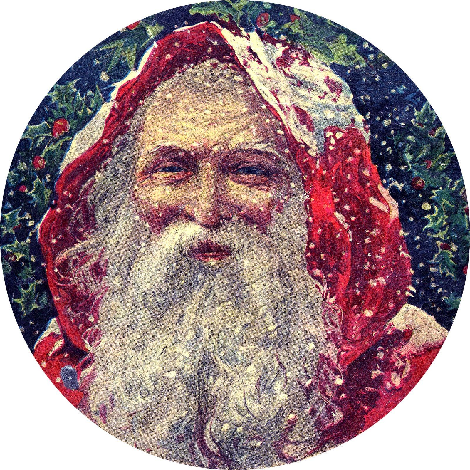 Victorian Father Christmas Decorations: Vintage Christmas - Classic Victorian Santa