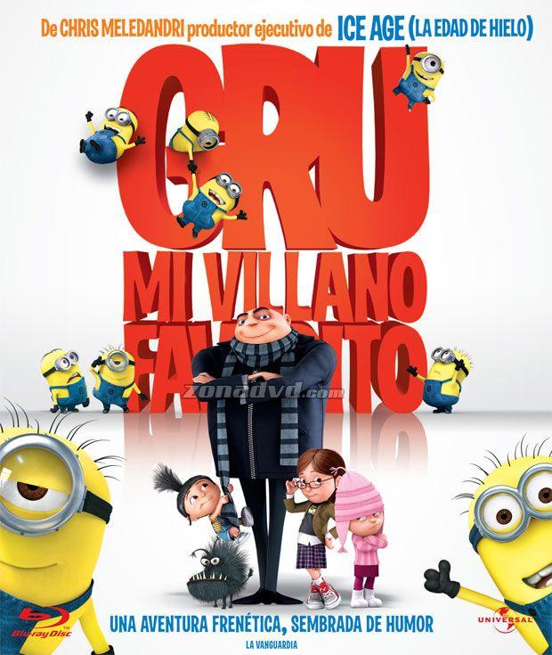 Caratula De Gru Mi Villano Favorito Blu Ray Mi Villano Favorito Objetivos De La Publicidad Peliculas Infantiles