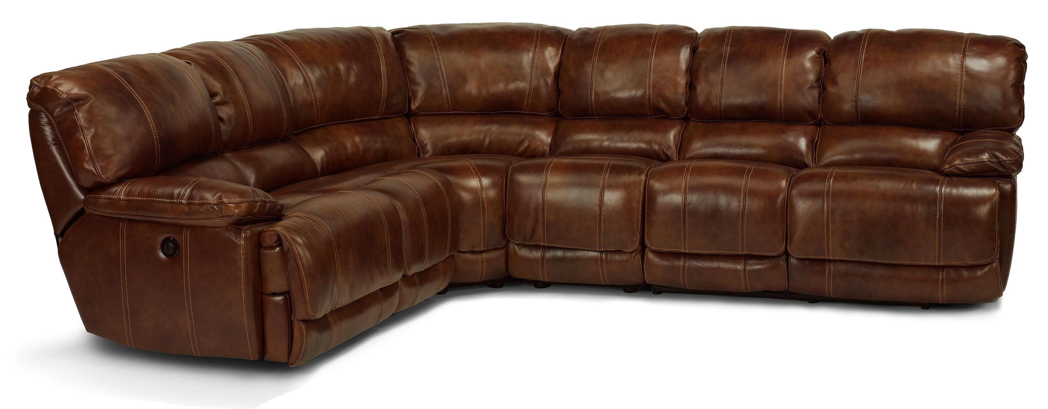 Belmont 4 Pc Power Reclining Sectional Sofa by Flexsteel