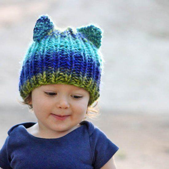 Toddler Bear Hat Knitting Patter Knitting Pinterest Beginner