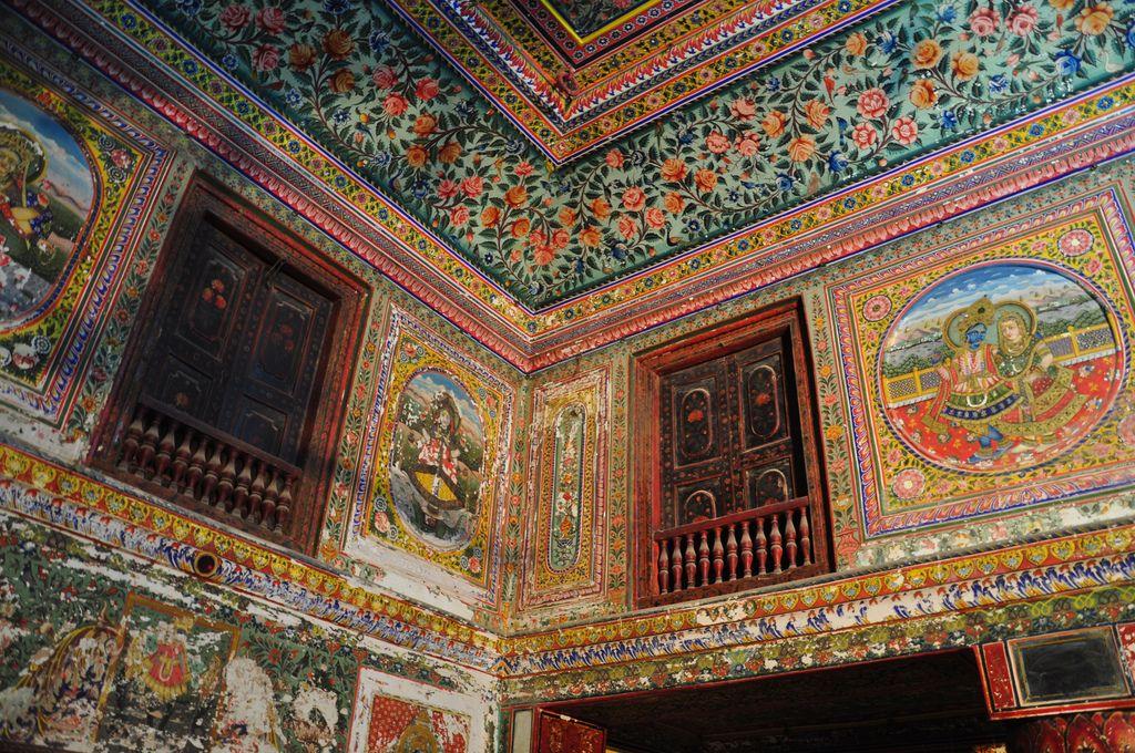 Jhunjhunwala haveli art painting india