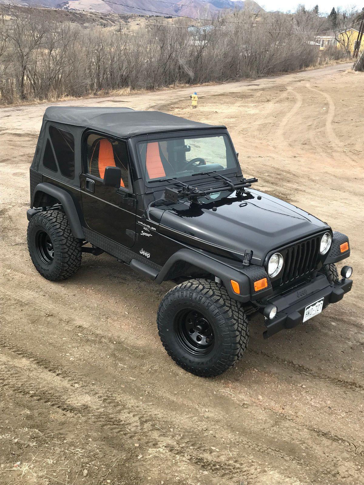 Ebay 1999 Jeep Wrangler Sport 1999 Jeep Wrangler Tj Sport 4 0 New 33 Inch Tires 4 Inch Lift Jeep Jeepli Jeep Wrangler 1999 Jeep Wrangler Jeep Wrangler Tj