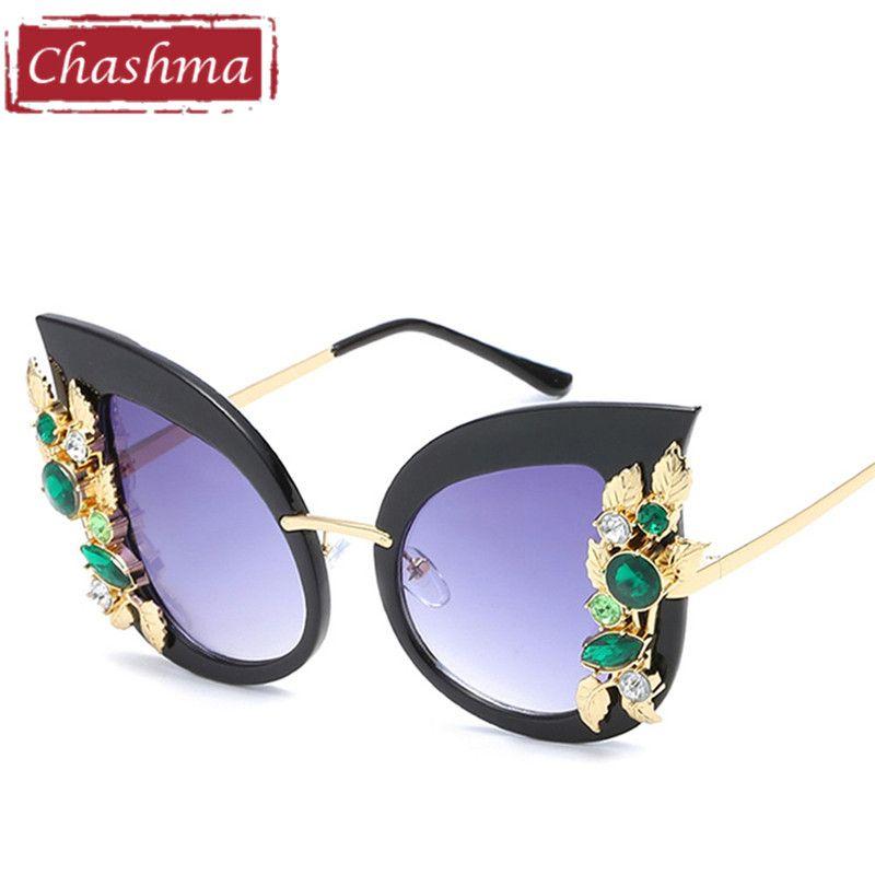 a766bd521ff7 Chashma Brand Trend Cat Eye Sun Glasses Women Fashion Black Red Tortoise  Colors Women Sunglasses 2017
