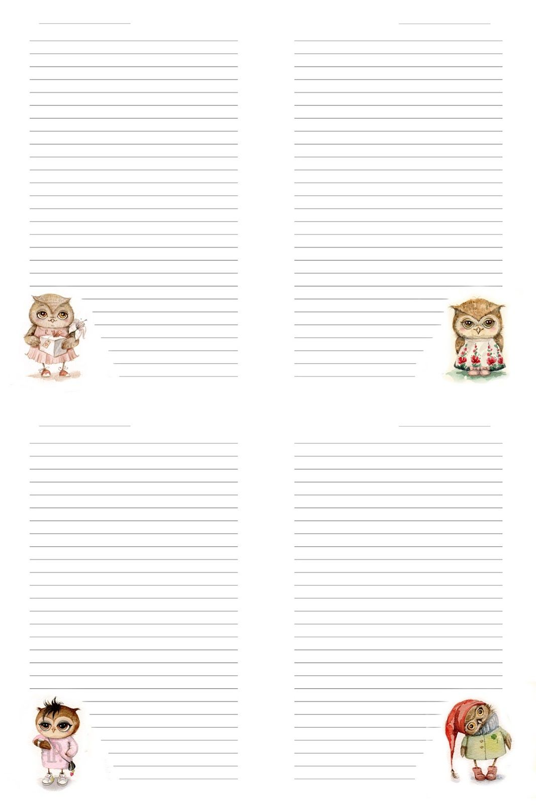Printable Notepad Paper Entrancing Hand Madealesanalovesky Pages For Notebookстранички Для .