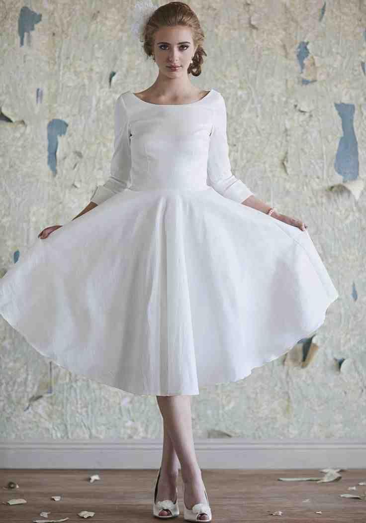 Ivory Tea Length Wedding Dress   tea length wedding dresses ...