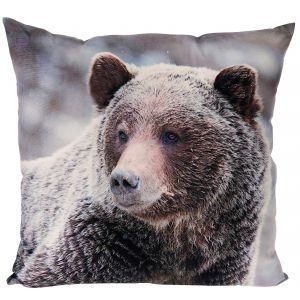 Poduszka dekoracyjna z niedźwiedziem - 45 PLN