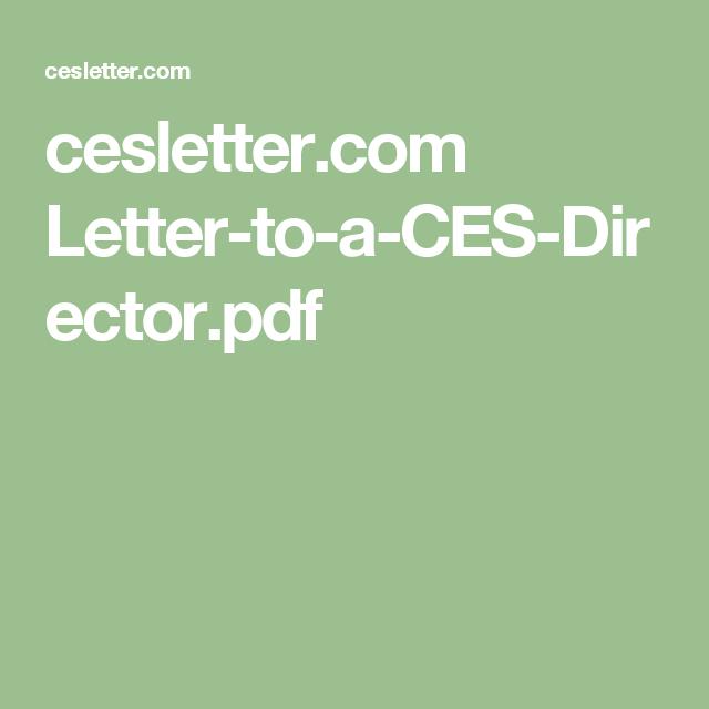 cesletter Letter to a CES Director pdf