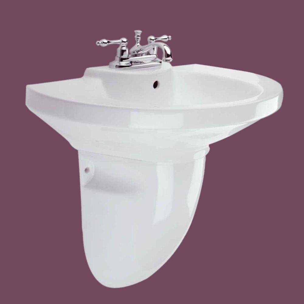 Wall Mount Semi Pedestal Sink Ceramic Bathroom | Renovatoru0027s Supply  #TheRenovatorsSupply