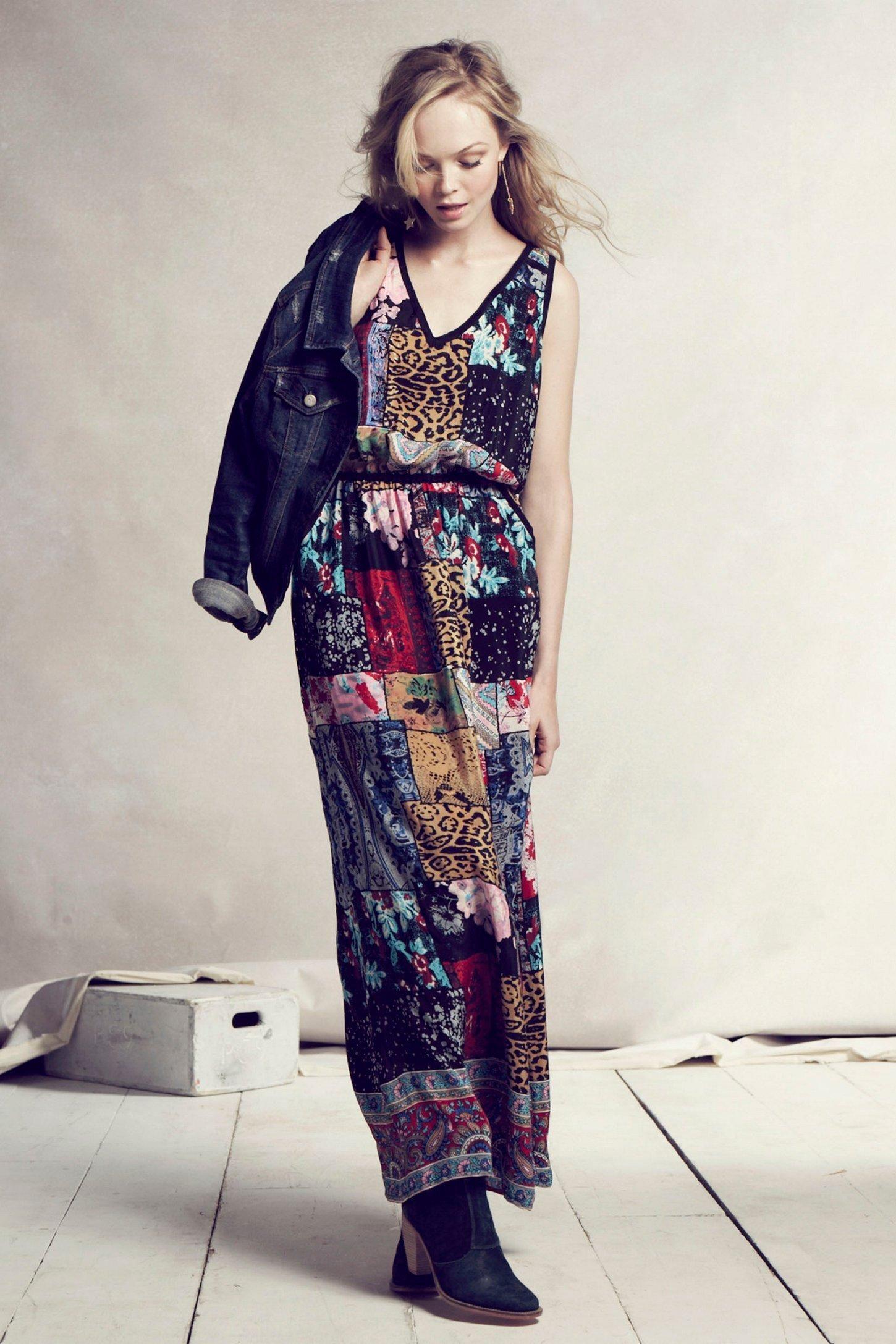 Boheme maxi dress jackets anthropologie and love this for Anthropologie mural maxi dress