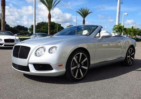 #2013 #Bentley #Continental #GTC #V8 #SilverCar