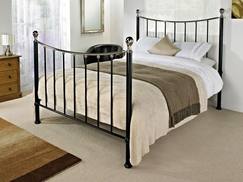 Noble Black Bed Frame Dramatic And Undeniably Glamorous Addition To Any Bedroom This Stunning Met Bed Frame Mattress Black Metal Bed Frame Benson For Beds