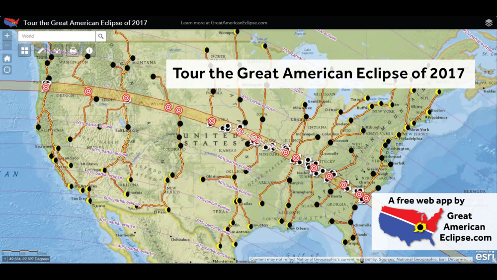Tour The Great American Eclipse Of 2017 And The Horizontal