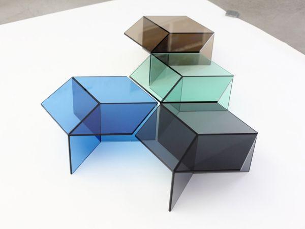 Beistelltische Glas Illusionseffekte Schaffen Tischdesign Couchtisch Tisch Wohnzimmertische