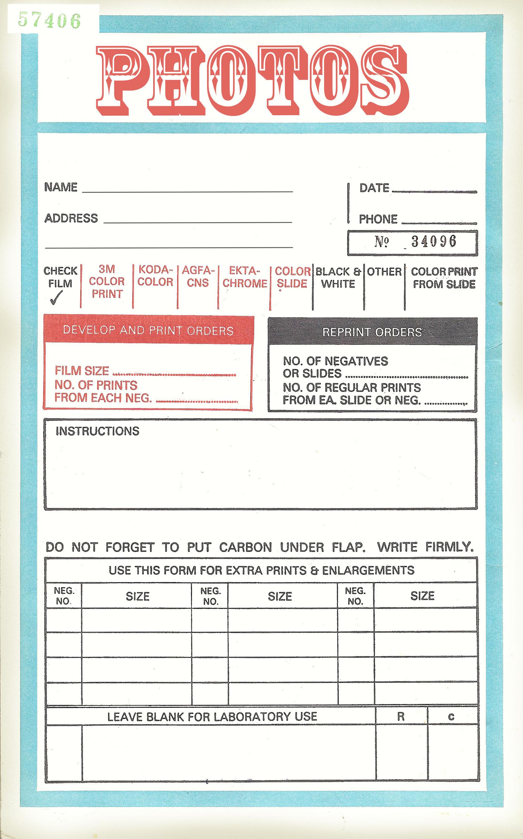 Free Printable Photo Envelope Edited To Fix A Typographical Error