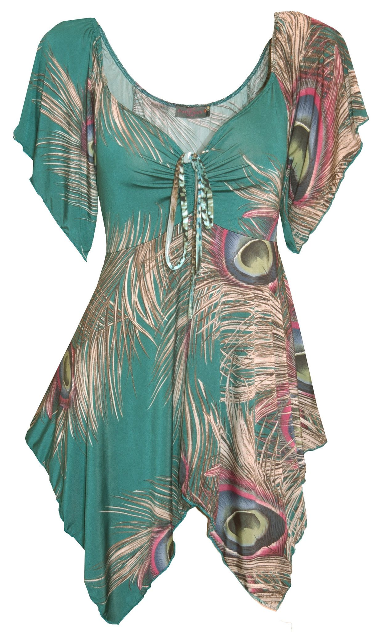 7712b0d98dae Funfash Plus Size Jade Green Peacock Top New Women's Top Shirt Blouse