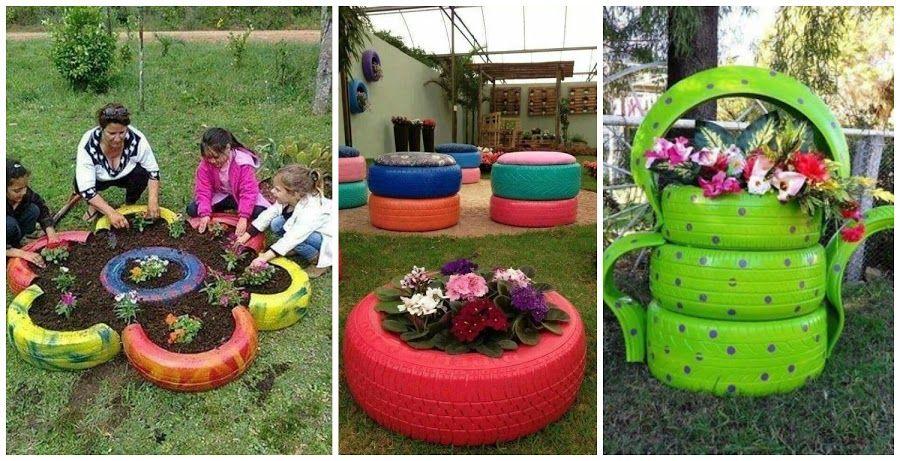 10 Ideas Increables Para Reciclar Neuma Ticos Llantas Decoradas Para Jardin Macetas De Llantas Como Reciclar Llantas