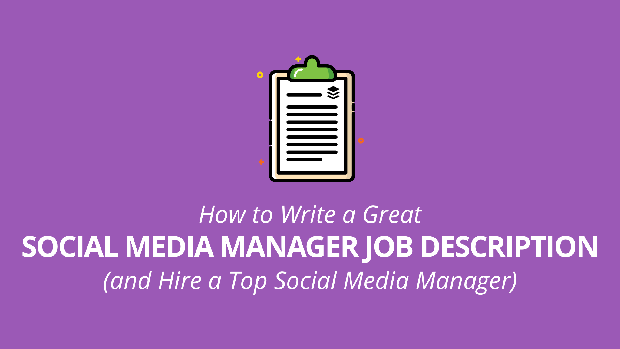 Media Manager Job Description Guide Tips Templates And Tools