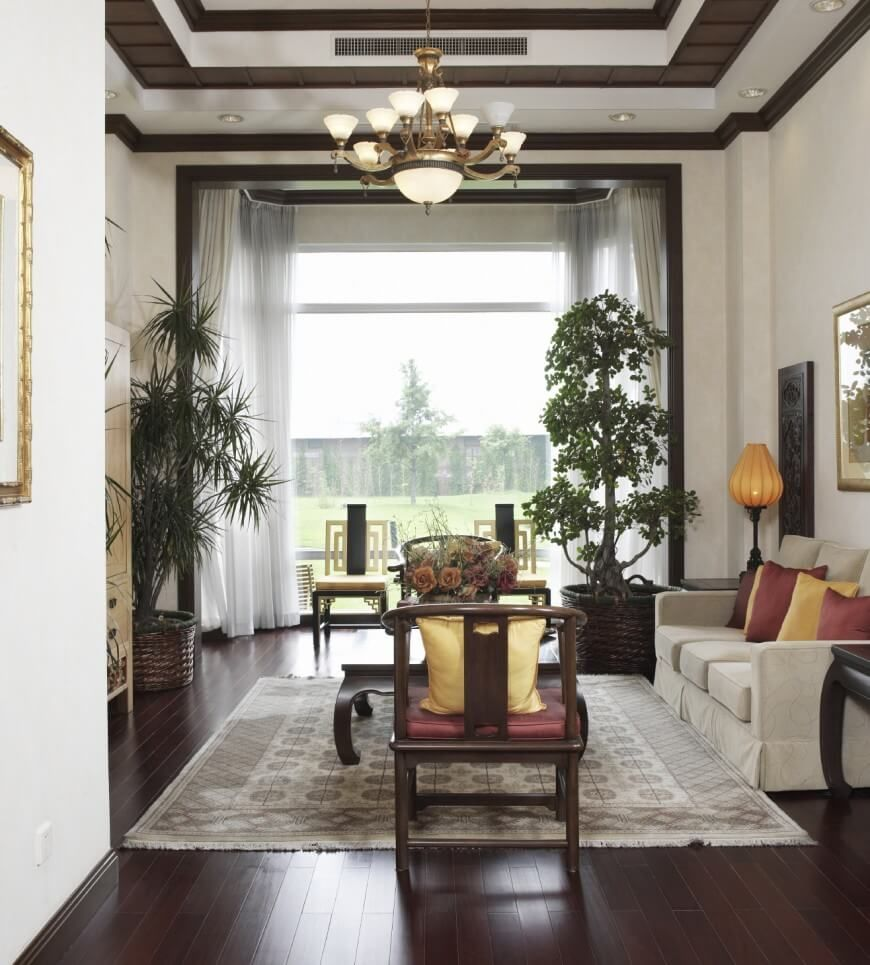 21 Riveting Living Rooms With Dark Wood Floors Pictures Li