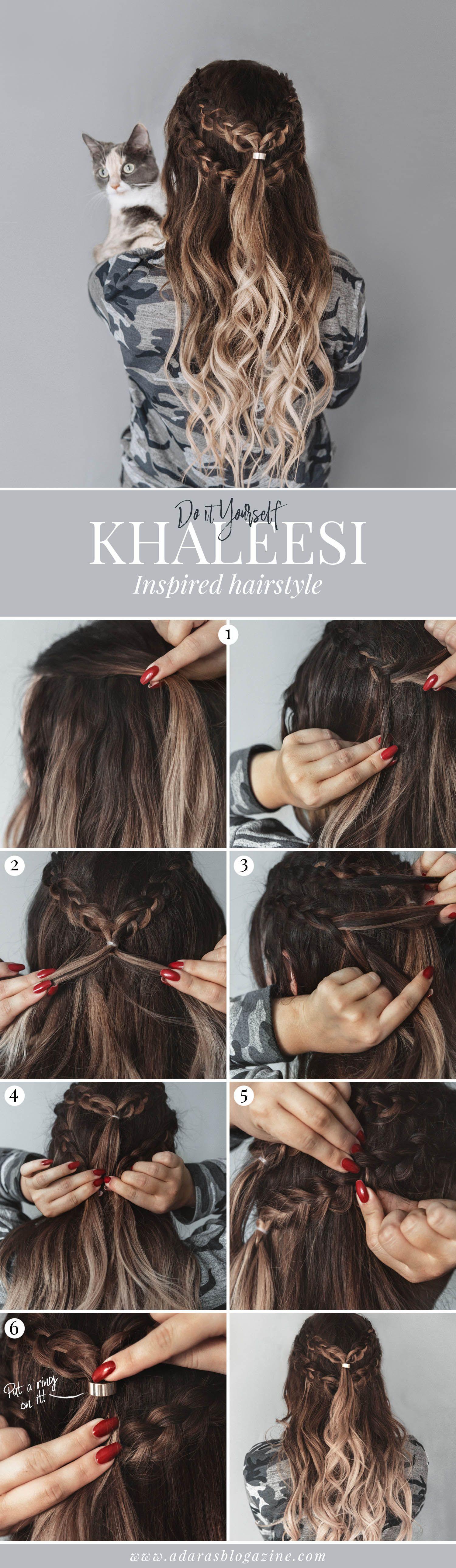 Tutorial khaleesi hairstyle with braids in simple steps hair
