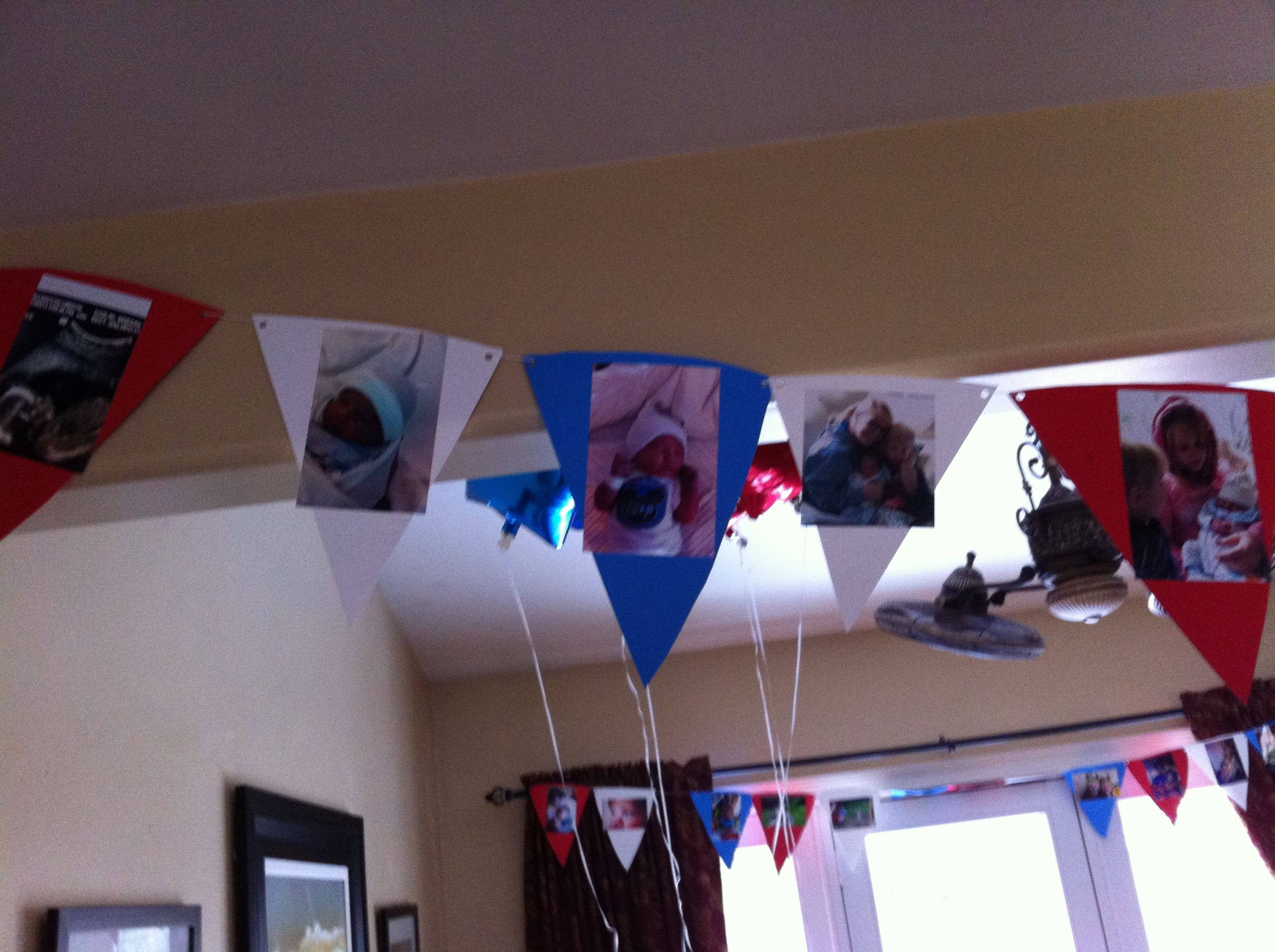 Time line first birthday circus decoration