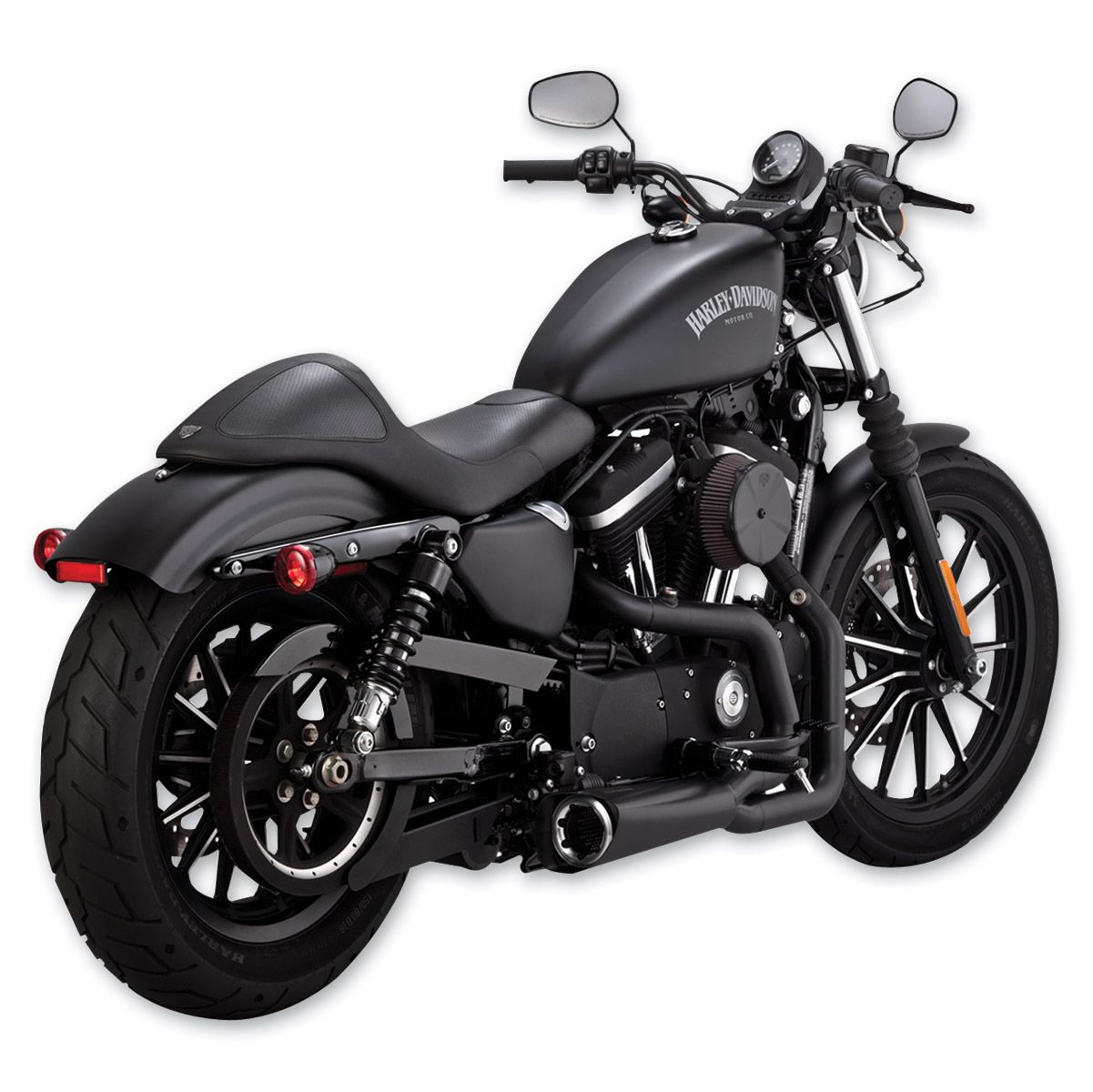 Vance Hines Competition Series 2 Into 1 Exhaust Matte Black 75