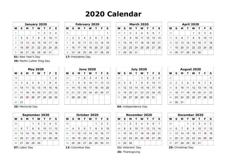 Free Printable 2020 Calendar Template Pdf Word Excel Page Blank 12 In 2020 Free Printable Calendar Templates Printable Yearly Calendar Printable Calendar Template